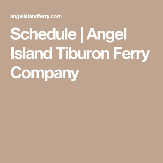 Schedule | Angel Island Tiburon Ferry Company