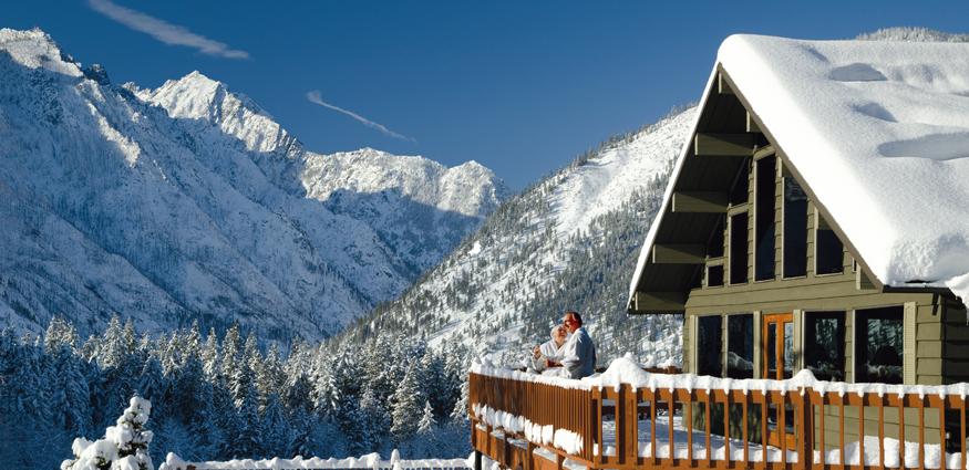 Mountain home lodge leavenworth wa for winter wedding for Leavenworth wa wedding venues