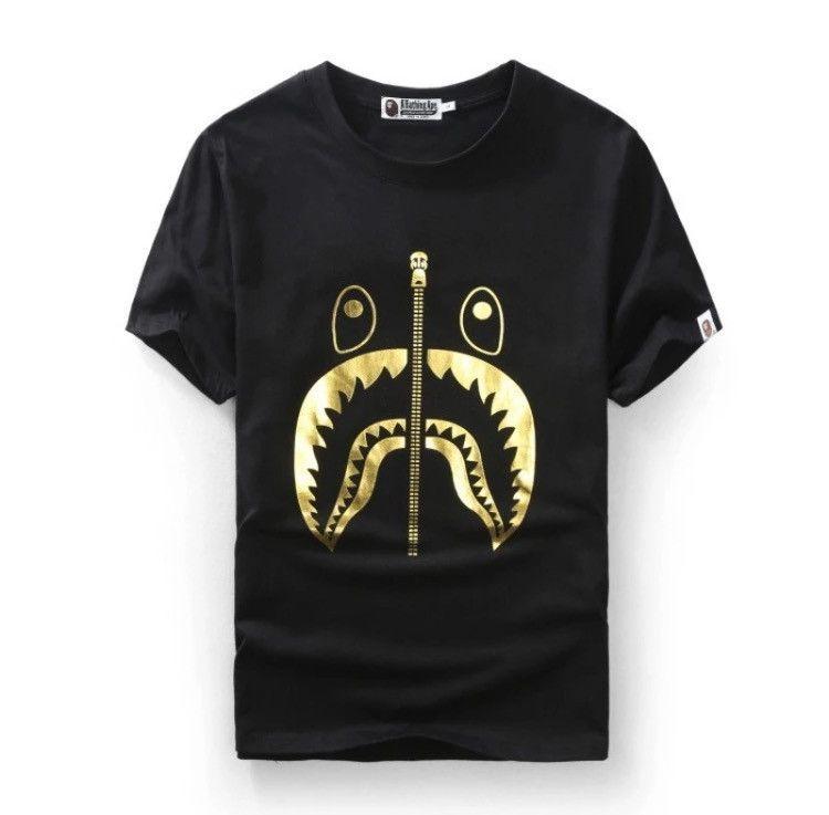 d3f7deeec BAPE Shark 24K Gold Shirt | Art | Bape shark t shirt, Bape, Shark t ...