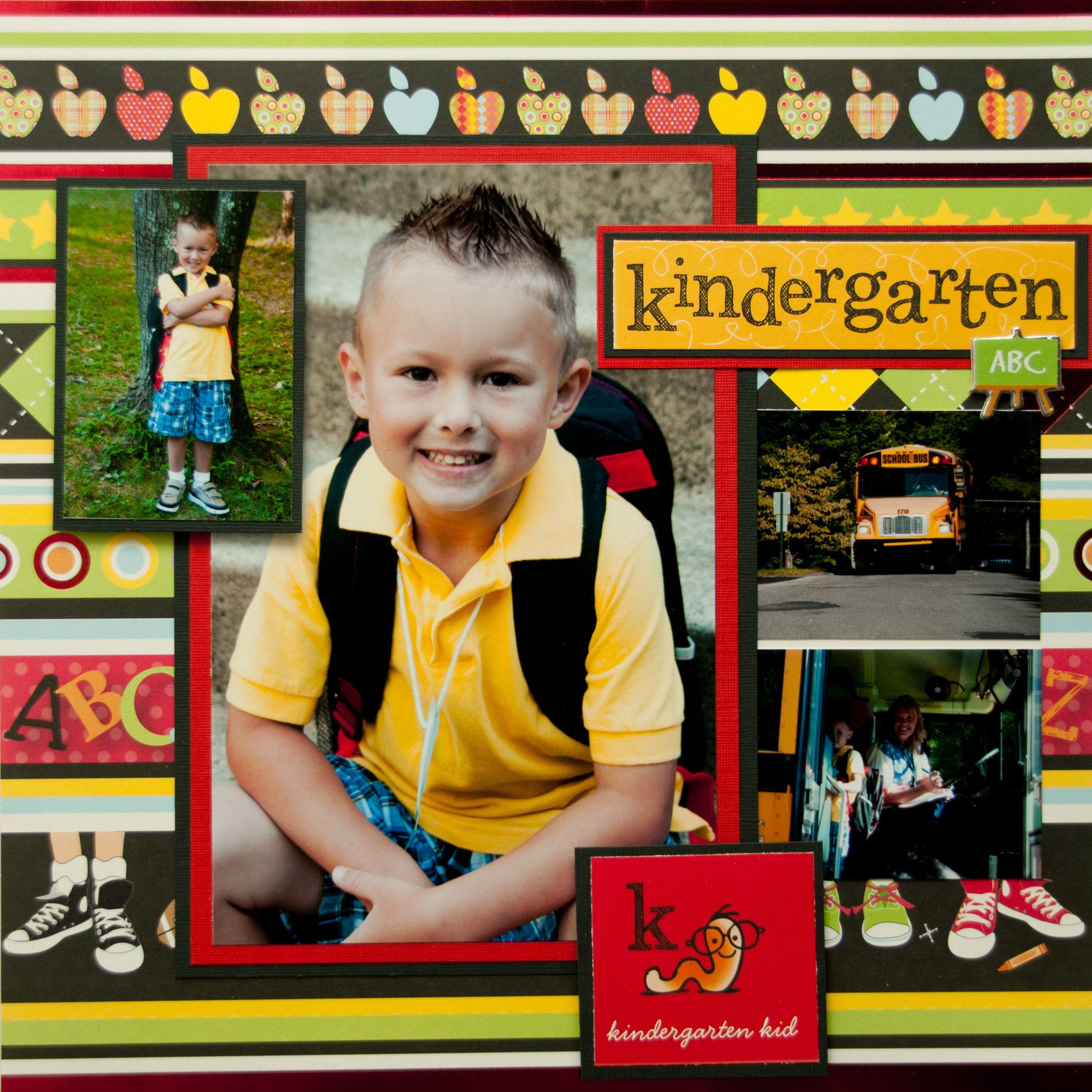 Scrapbook ideas kindergarten - Kindergarten Kid Scrapbook Com
