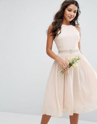 4f900b5a TFNC WEDDING Embellished Midi Dress with Full skirt | Clothes ...