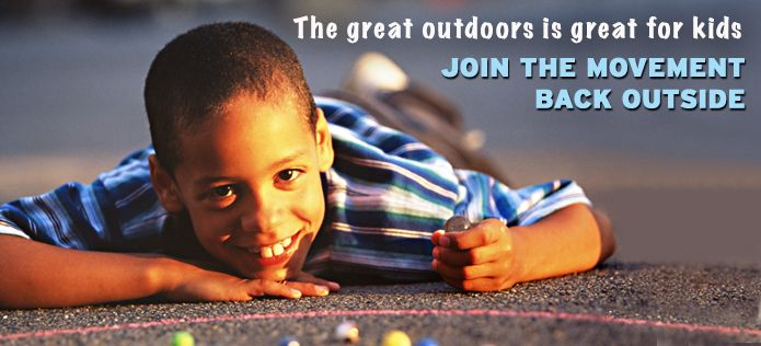 The great outdoors is great for kids - ideas for activities to do outdoors with kids.