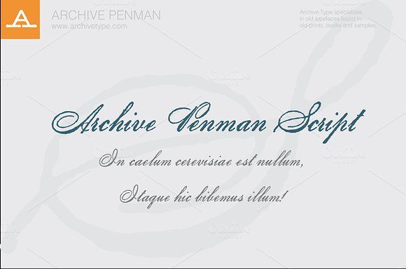 Archive Penman Script by Archive Type Fonts on @creativemarket