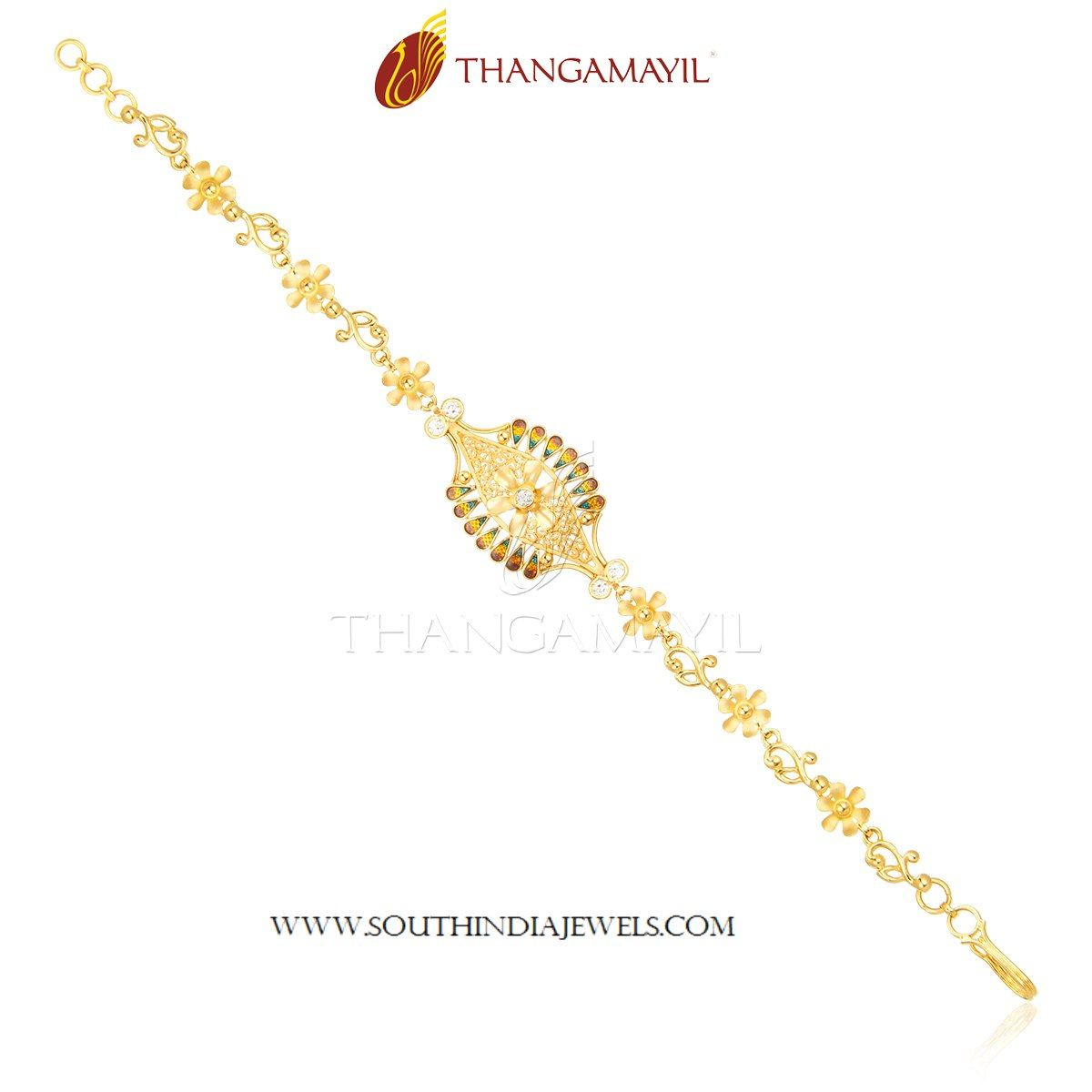 Elegant Gold Bracelet From Thangamayil Jewellery | Bracelet ...