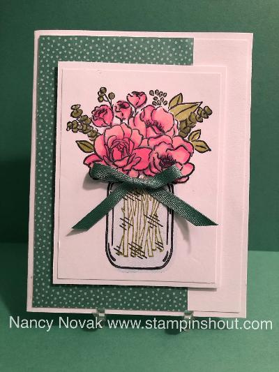 jar of flowers  3 styles in 2020  mason jar cards