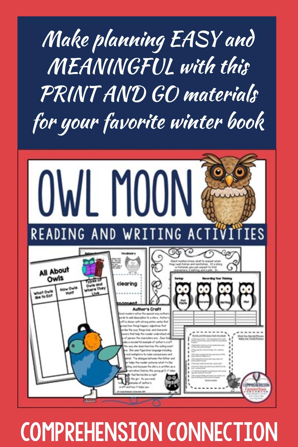 Owl Moon Activities