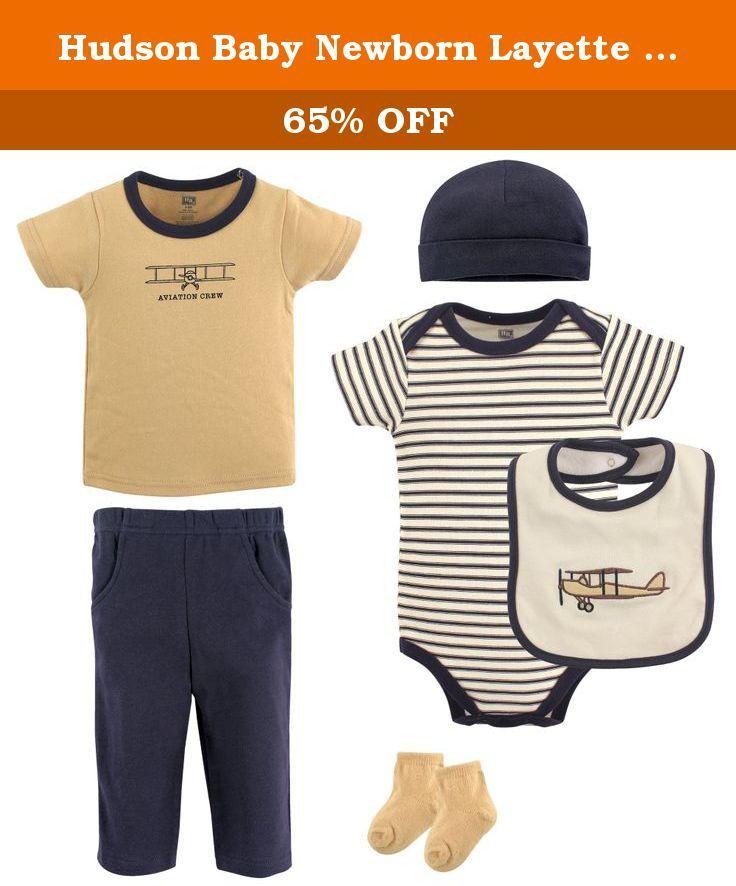 e84bed574 Hudson Baby Newborn Layette Clothing 6-Piece Set