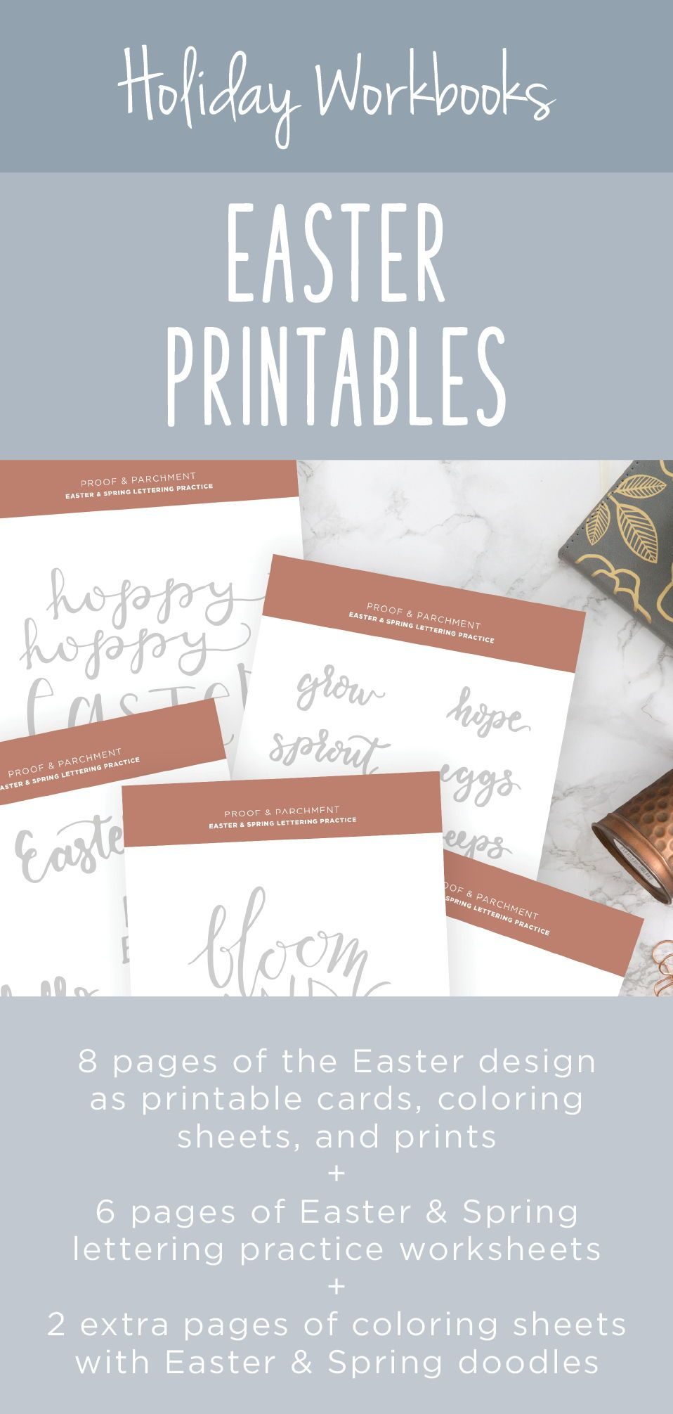 Easter Printable Lettering Worksheets Spring Coloring Pages   Etsy ...