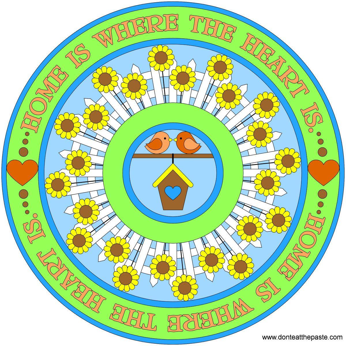 ⊰❁⊱ Mandala ⊰❁⊱ La Casa esta Donde el Corazón esta. Home is where the heart is mandala