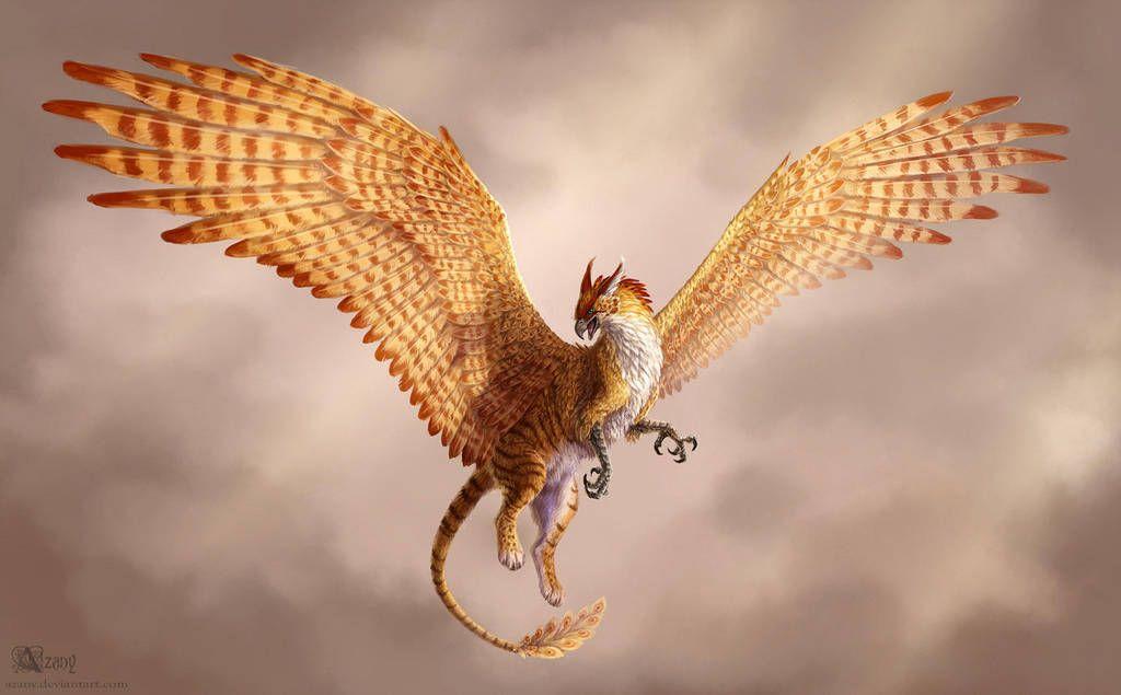 Golden Gryphon By Https Www Deviantart Com Azany On Deviantart Fantasy Art Angels Cute Fantasy Creatures Fantasy Creatures