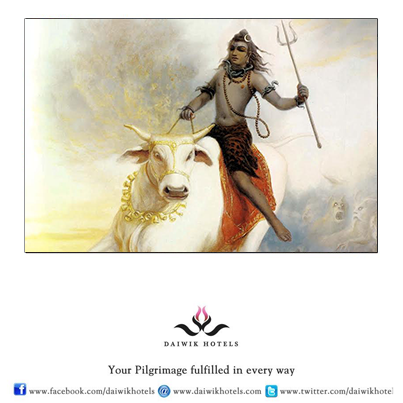 Nandi is the bull of Lord Shiva. The white colour of Nandi symbolizes purity and justice.