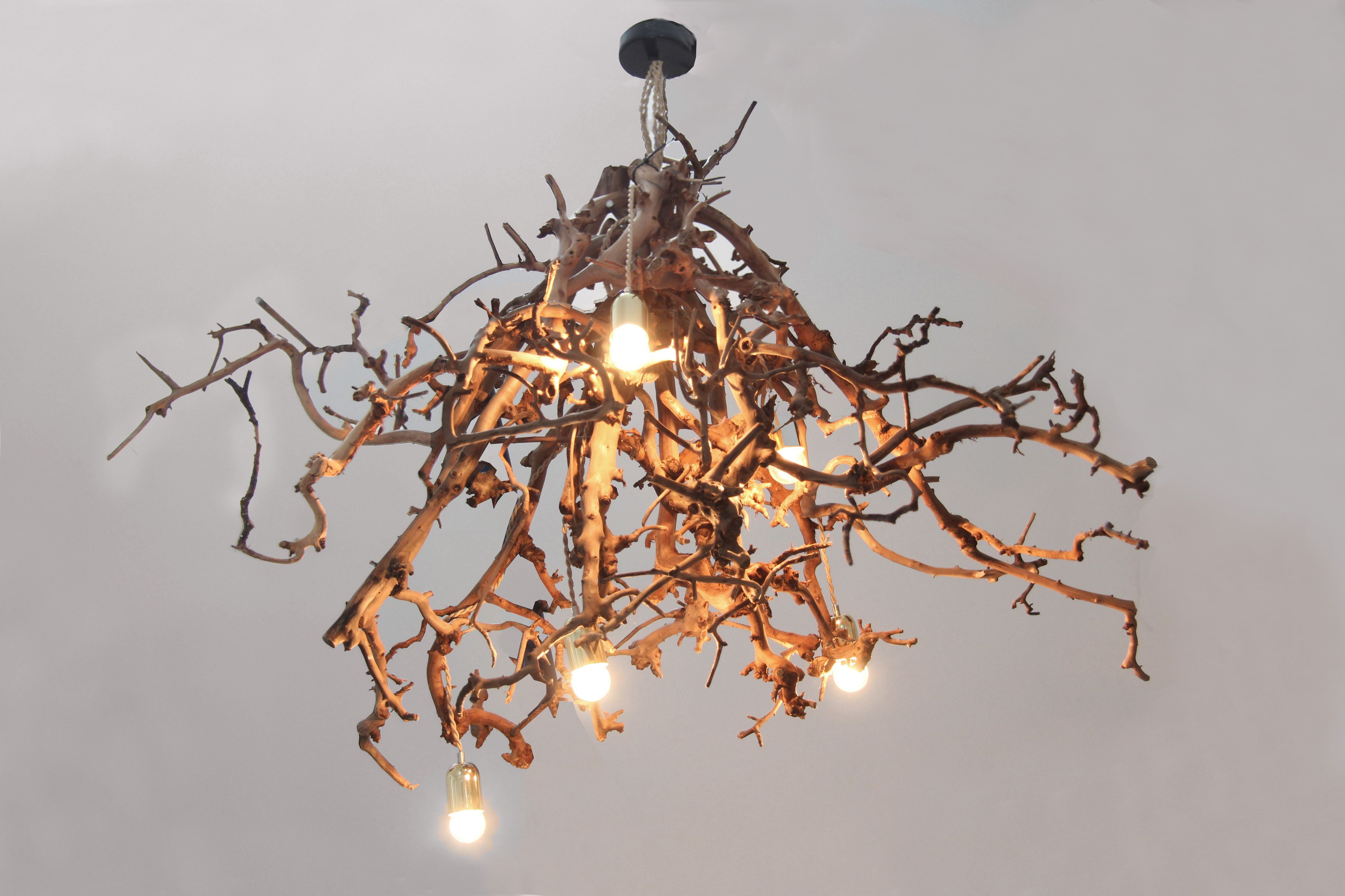 Brocante Slaapkamer Lampen : Houten lampen plafond tafel staande brocante kronkel lamp br
