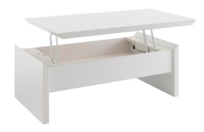 Soley Table Basse Avec Plateau Relevable Blanc Table Basse Avec Plateau Relevable Table Basse Deco Salon