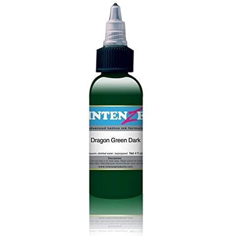 Intenze tattoo ink dragon green dark 1oz bottle