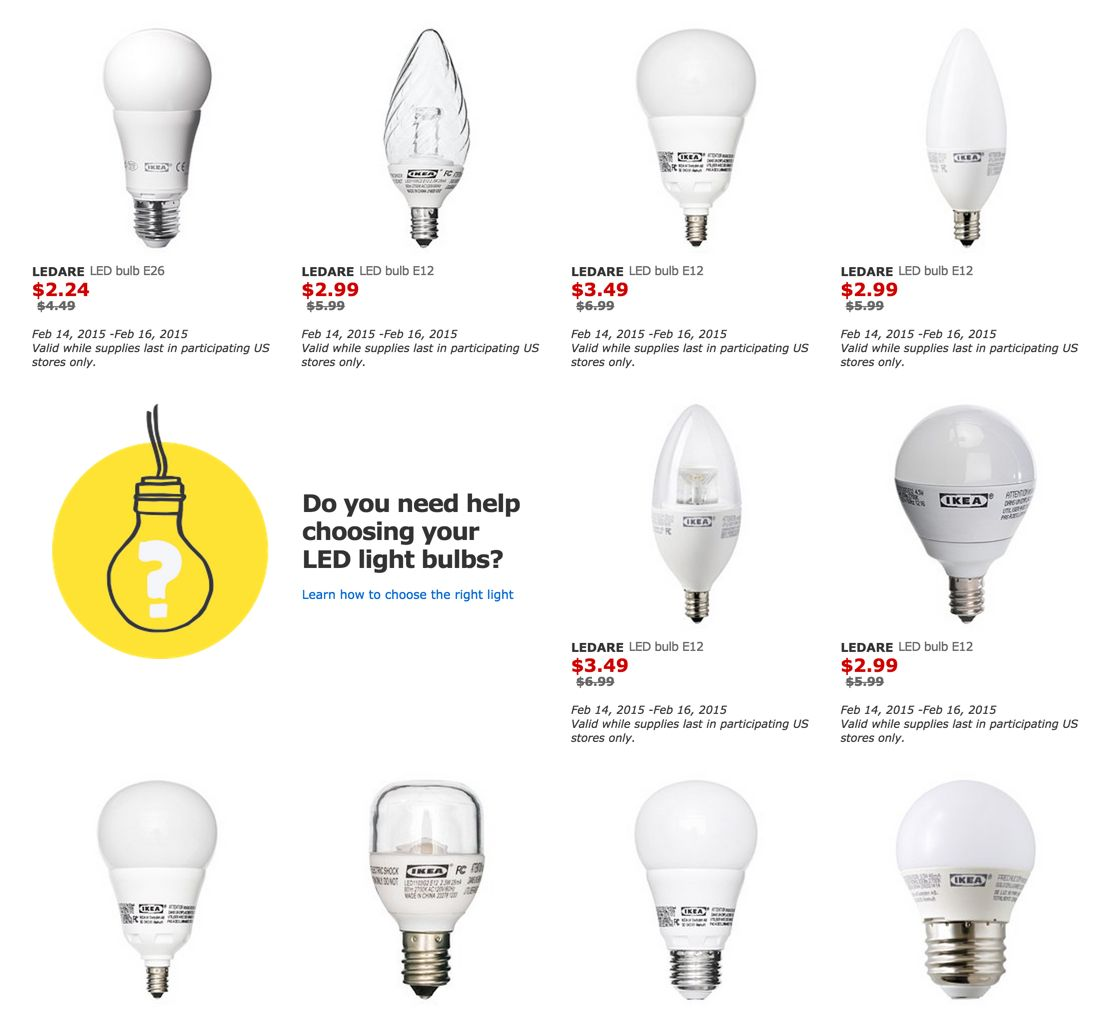 Learn about all the different types of light bulbs available and what to look for