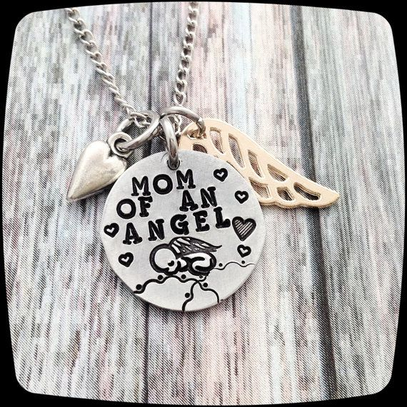 Miscarriage Gift,  Mom of an Angel, Loss of a child, Miscarriage, Loss of Baby Jewelry, Mommy jewelry