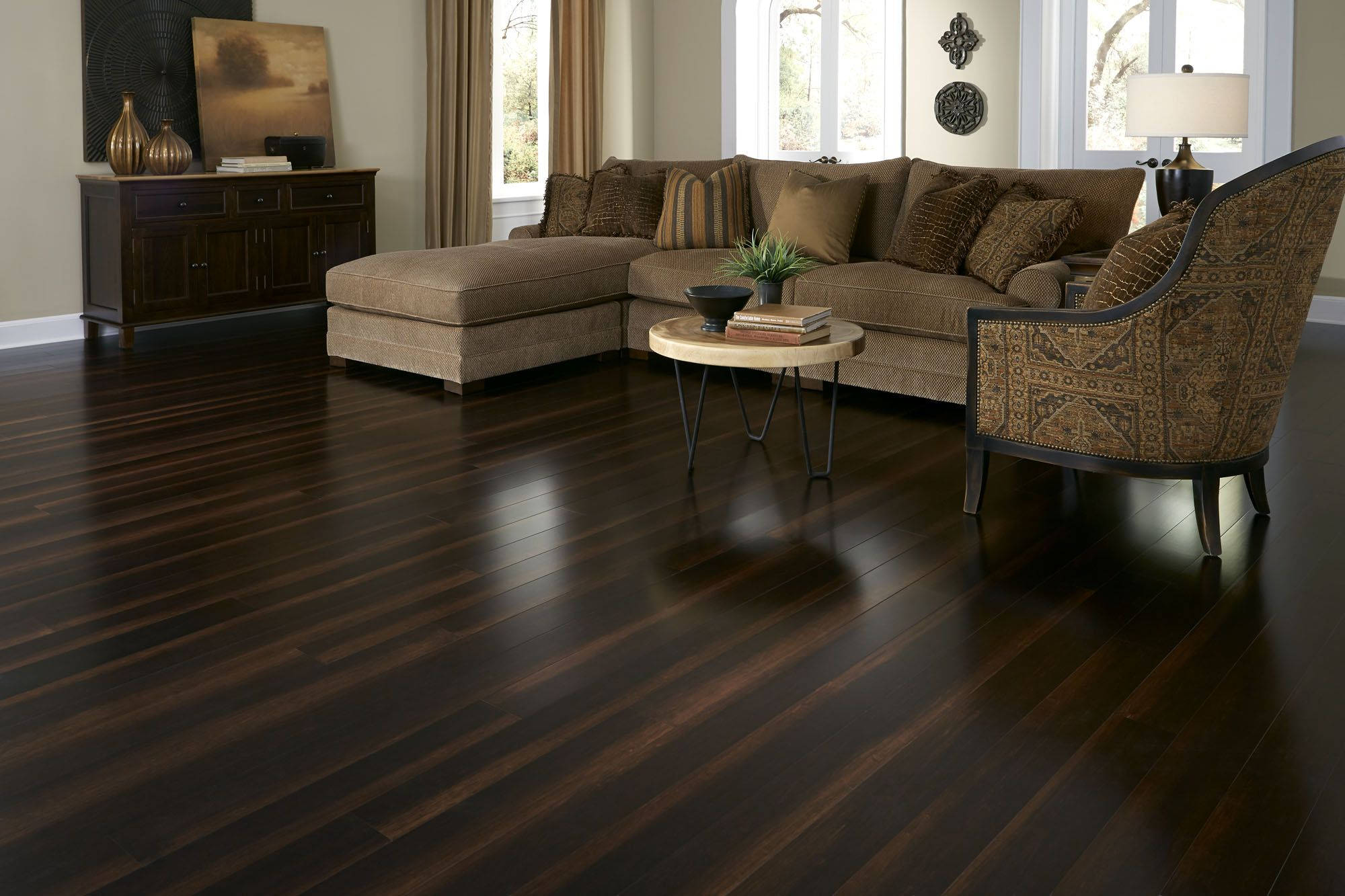 Bamboo Floors Like Red Siegel Are 2x As Hard As Oak Making Them An Excellent Choice For Just About Dark Laminate Floors Bamboo Flooring Wood Laminate Flooring