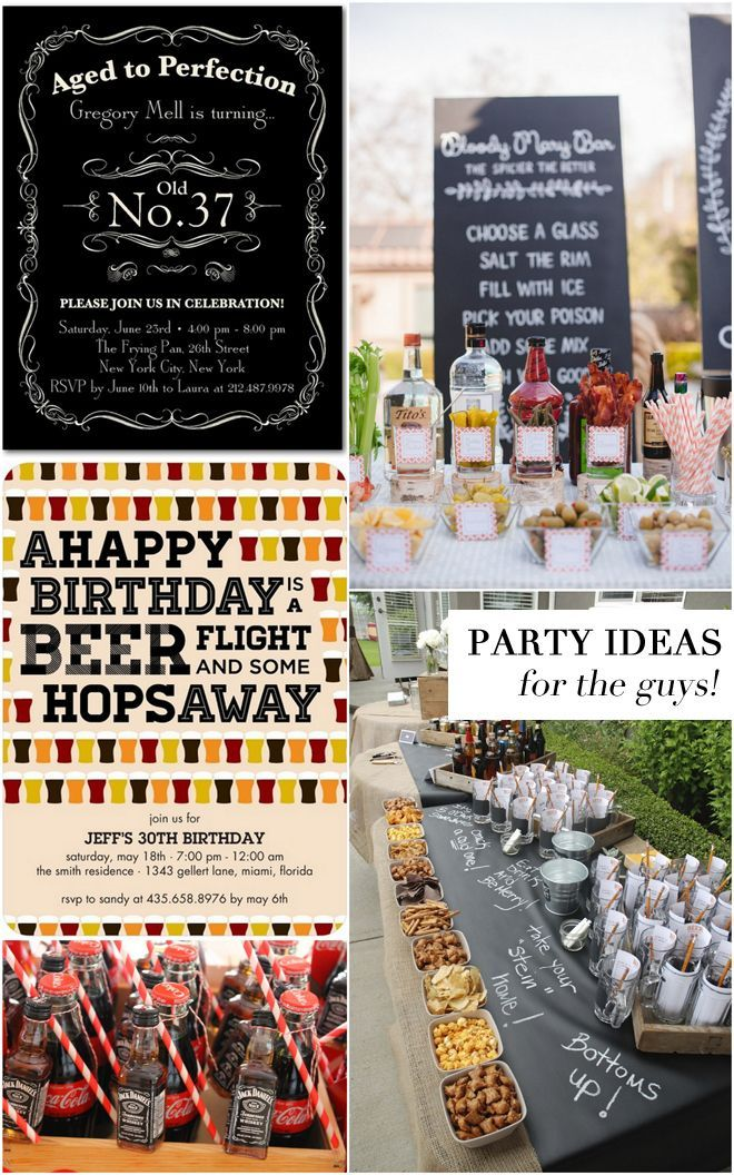 Birthday Party Ideas For The Guys