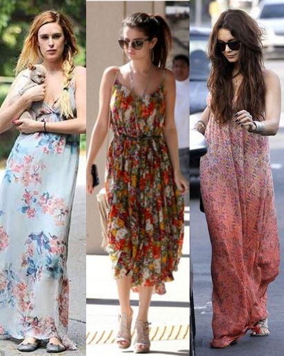 Maxi dress celebrity pictures before they were famous