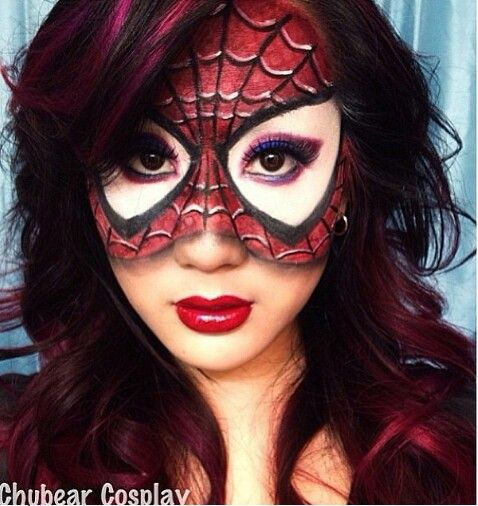 Amazing Spider-Girl makeup