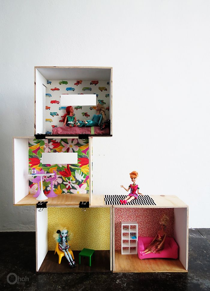 Diy Barbie Dollhouse With Images Diy Dollhouse Diy Barbie