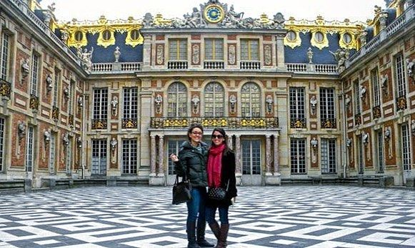Can't wait to see my partner in crime next week! Remember when we did the palace in 5?  #TBT #Paris #Ruths #versailles #travelgram #studyabroad #wifey #longdistancerelationship by lsmithas