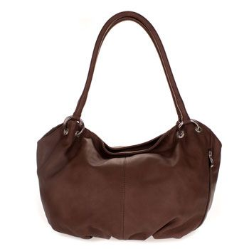 12efc4e2a092 Cosette Italian Made Brown Soft Leather Slouchy Hobo Shoulder Bag ...
