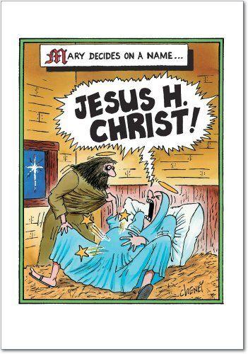 Set of jesus h christ christmas cards by nobleworks
