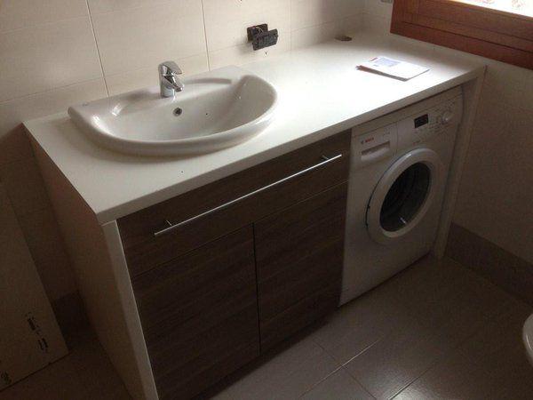 Beautiful mobile bagno lavatrice contemporary - Asciugatrice sopra lavatrice kit ikea ...