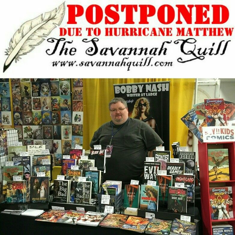 This weekend's The Savannah Quill postponed due to safety concerns from Hurricane Matthew. Will  be rescheduled.