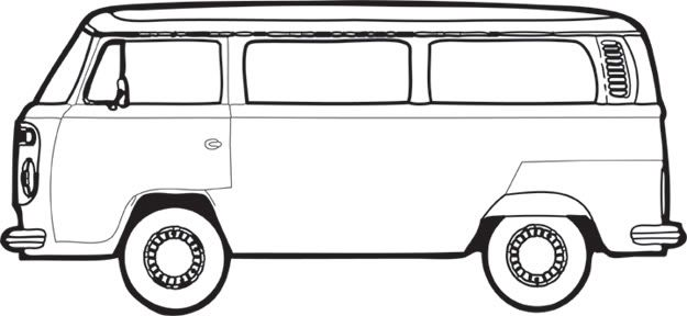 VW Bus Paint Off | teaching :) | Vw bus, Bus art, Drawings