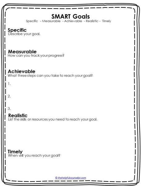 new year resolutions smart goals free download printable