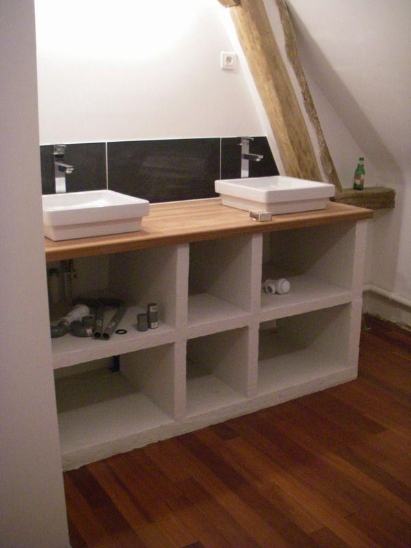 rsultat de recherche dimages pour meuble salle de bain beton cellulaire