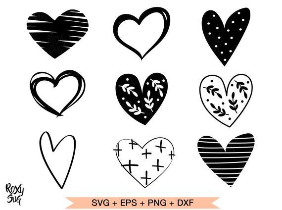 Heart Svg Hearts Svg Hearts Clipart Heart Shape Svg Hand Etsy Valentine Svg Files Heart Hands Drawing Clip Art