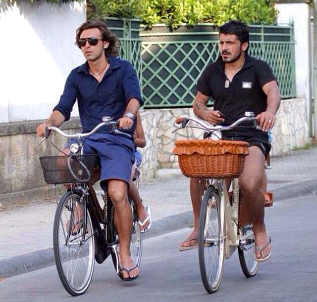 Pirlo and Gatusso. Too much talent in one picture.