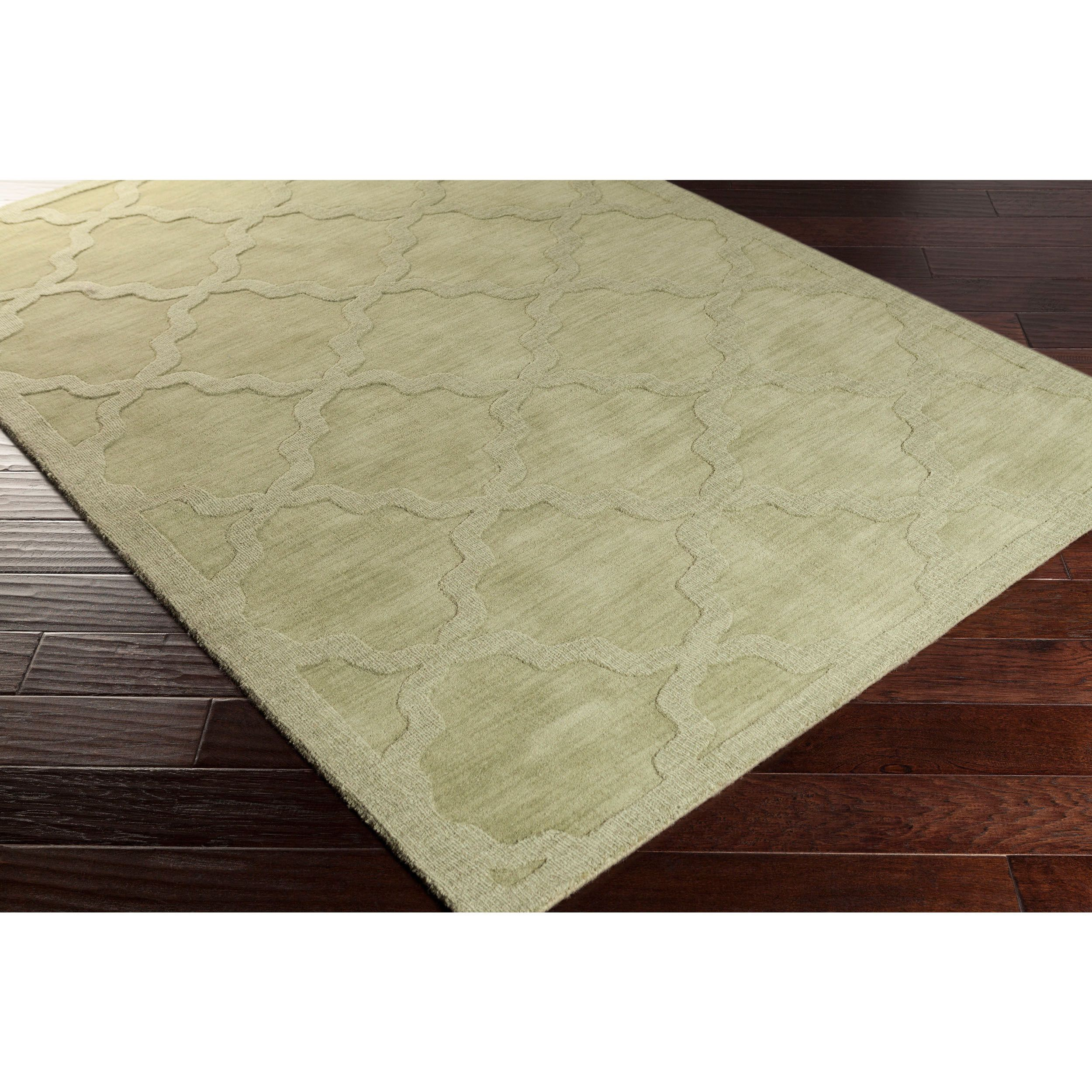 Surya Hand Woven Amy Tone On Tone Lattice Wool Rug (8u0027