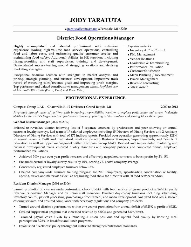 Former business owner resume new district manager resume