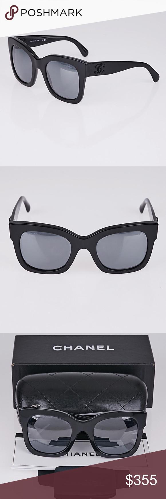 abcce61472 CHANEL 5357 C501/26 BLACK/DARK GREY-SILVER MIRROR 100% Authentic Chanel