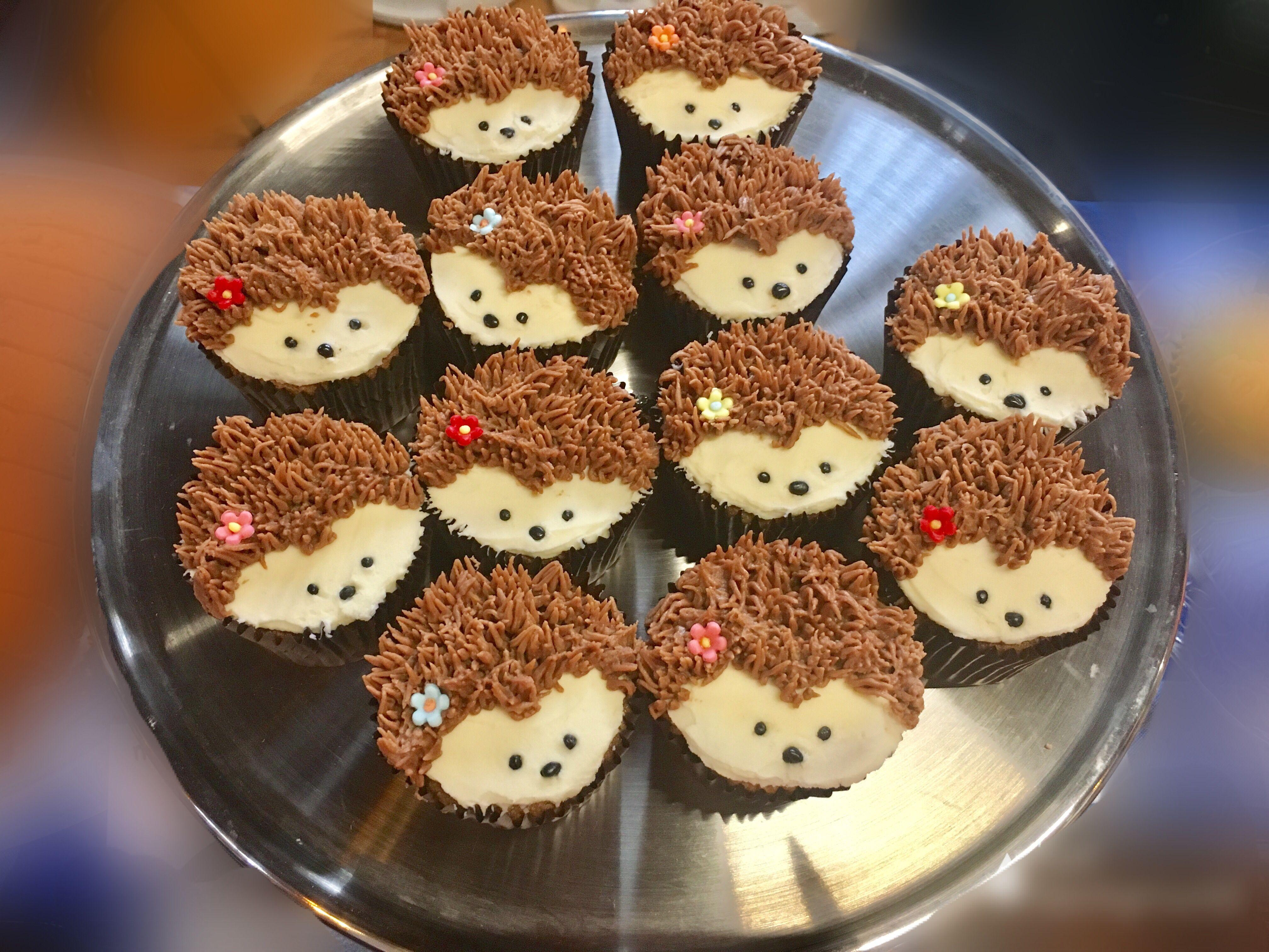 Hedgehog cupcakes #hedgehogcake