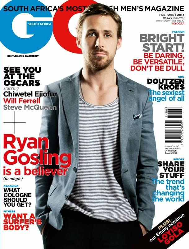 gq magazine cover template - ryan gosling gq magazine cover south africa february