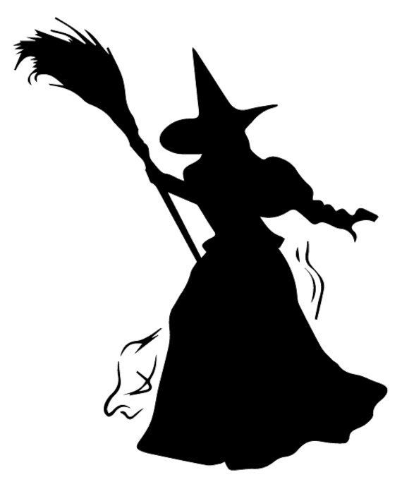 Halloween Wicked Witch DIY Art Project Paint Reusable Stencil Silhouette