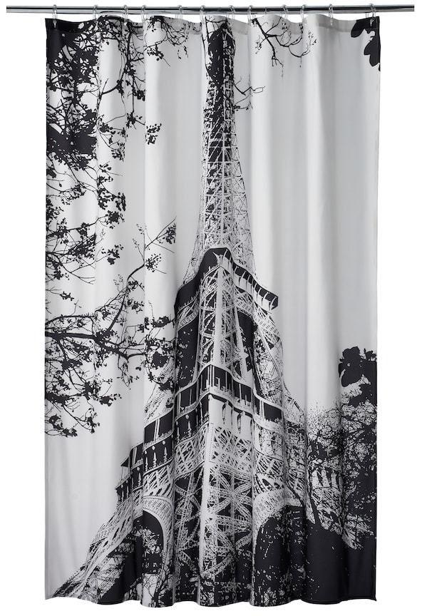 Home Classics Paris Noir Shower Curtain Products Curtains