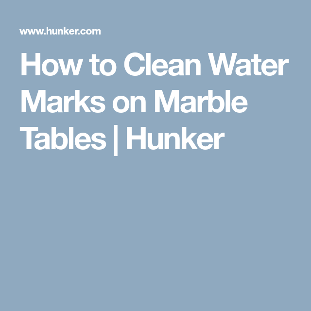 How to Clean Water Marks on Marble Tables | Water rings and Water