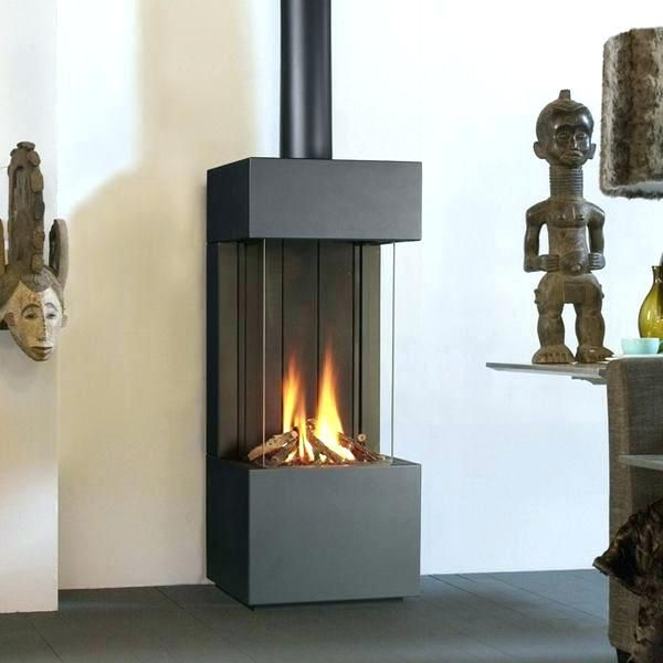 Propane Fireplace Gas Free Standing Modern Vent With Mantle Indoor