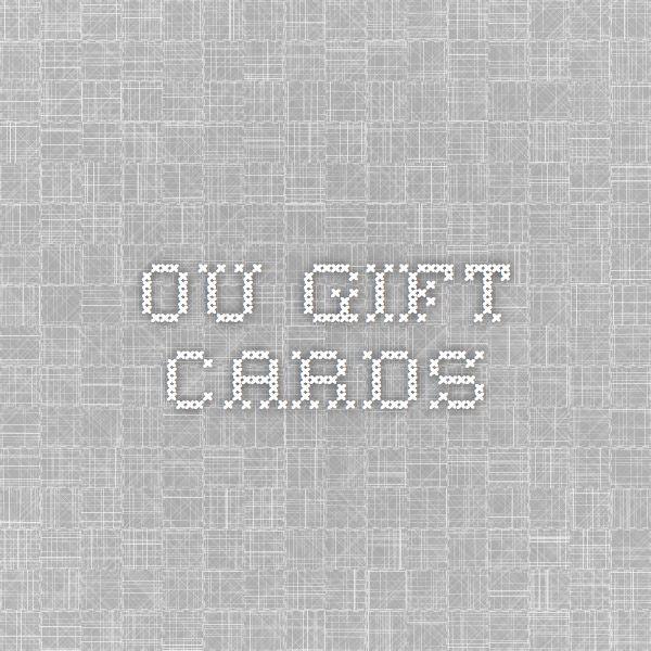 OU Gift Cards