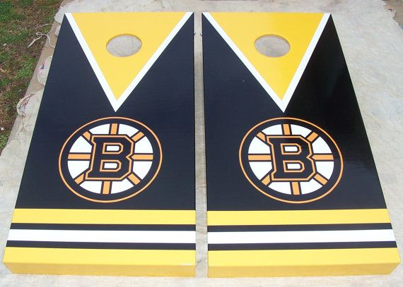 Boston Bruins Cornhole Set By Mkhew2 On Etsy, $200.00