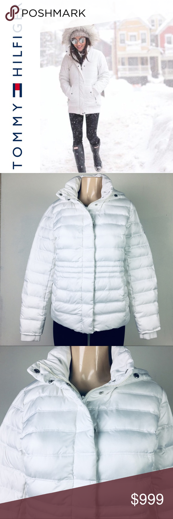 Tommy Hilfiger White Puffer Jacket Like New Beautiful Bright White Hooded Coat With Hilfiger Logo On La White Puffer Jacket Jackets Tommy Hilfiger Jackets [ 1740 x 580 Pixel ]