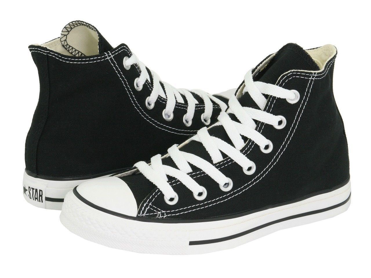 d0791c7255d8ea Converse All Star Chuck Taylor Hi M9160 Black Canvas Shoes Medium (B ...