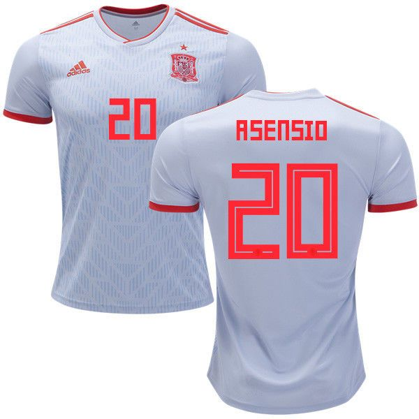 11296030c50 Adidas Spain Away Jersey World Cup 2018 BR2697   20 ASENSIO Discount Price  109.00 Free Shipping