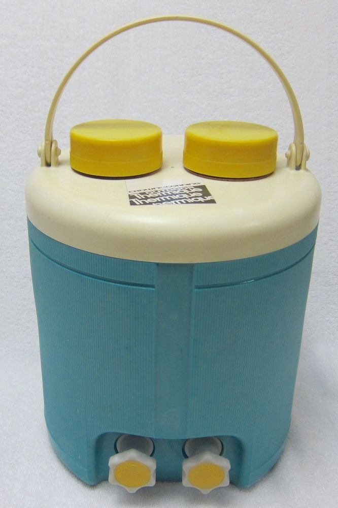 Vintage Corning Picnic Cooler Jug Thermos Rare 2 Chambered 2 Valves ...